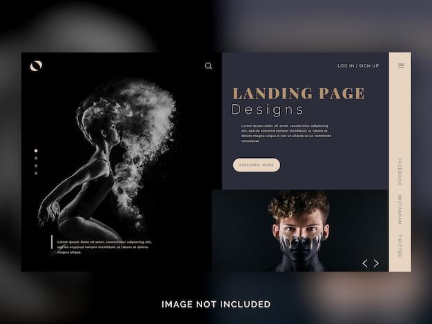 Landing-page-vorlage