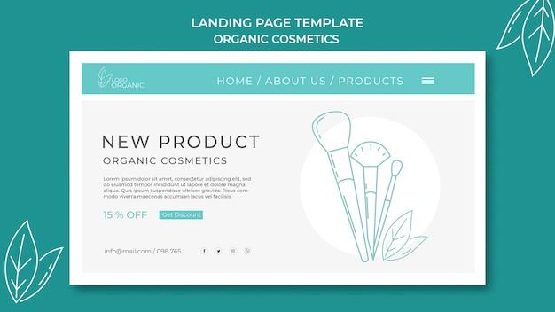 Landingpage bio-kosmetik vorlage
