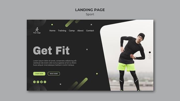 Landingpage der fitness-trainingsvorlage