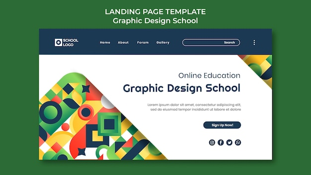 Landingpage der grafikdesignschule