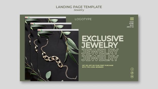 Landingpage der juweliergeschäftsvorlage Premium PSD