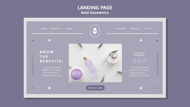 Landingpage der lavendelölschablone