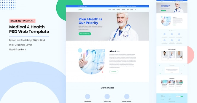Landingpage der medizinischen und zahnmedizinischen website