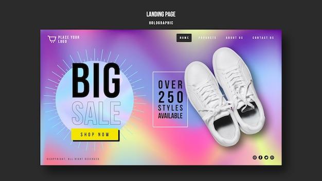 Landingpage der sneakers-verkaufsvorlage