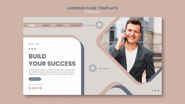 Landingpage der teamarbeitsvorlage