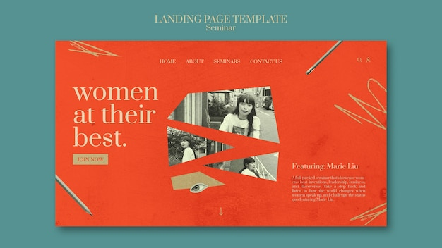 Landingpage des feminismusseminars