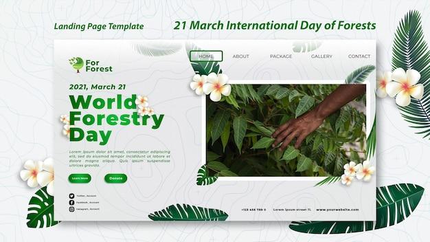 Landingpage des internationalen tages der wälder
