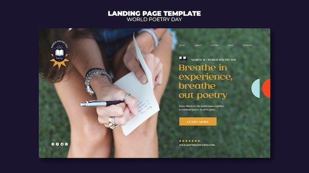 Landingpage des poetry day