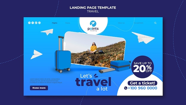 Landingpage des reisebüros