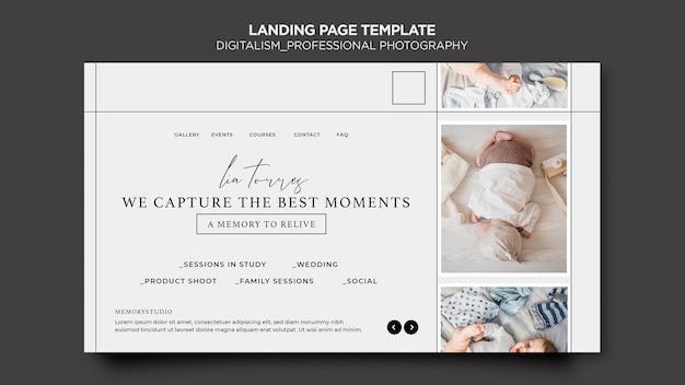 Landingpage-design des digitalismus-konzepts