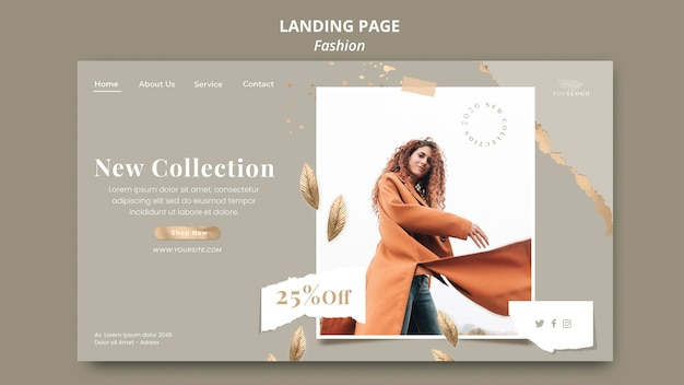 Landingpage fashion store vorlage