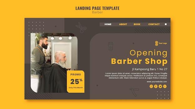 Landingpage friseur shop vorlage