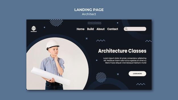 Landingpage für architekturklassen