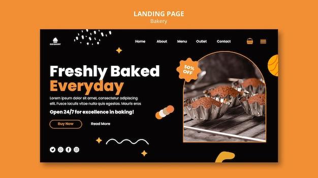 Landingpage für bäckereien