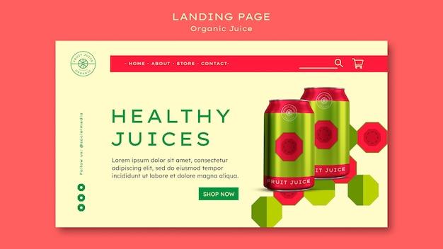 Landingpage für bio-saft