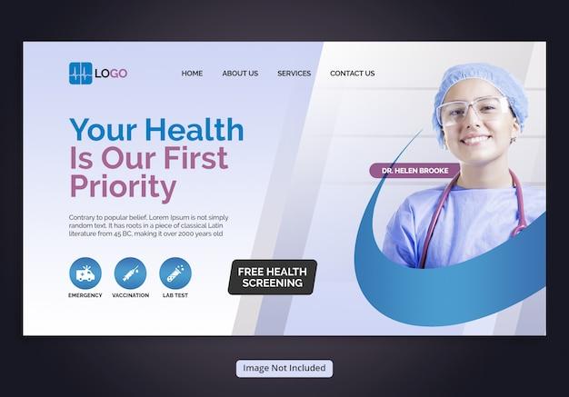 Landingpage für das gesundheitswesen