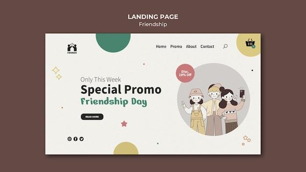 Landingpage für den internationalen freundschaftstag mit freunden