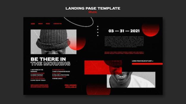 Landingpage für den verkauf von musiktickets