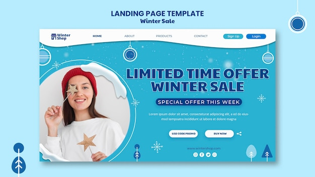 Landingpage für den winterschlussverkauf