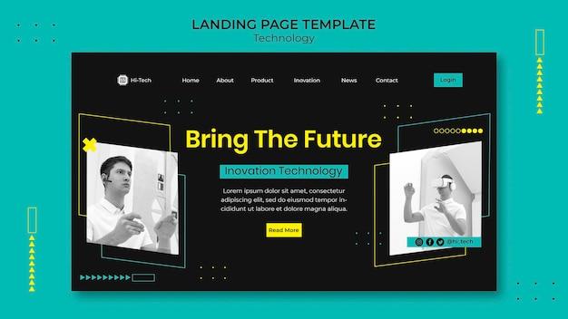 Landingpage für digitale innovationen