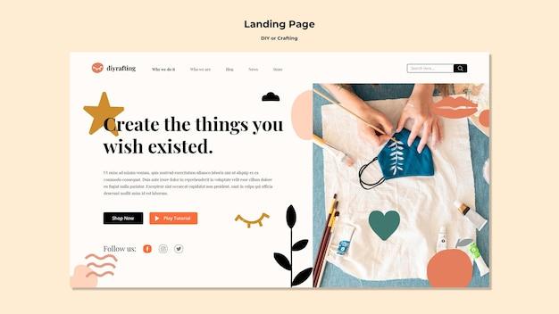 Landingpage für diy-tutorials