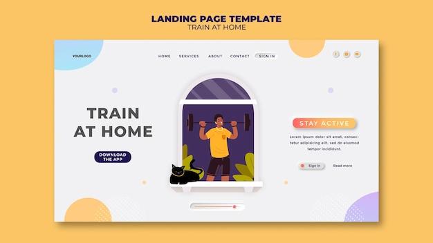 Landingpage für fitnesstraining zu hause