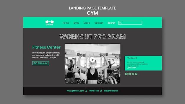 Landingpage für fitnesstraining