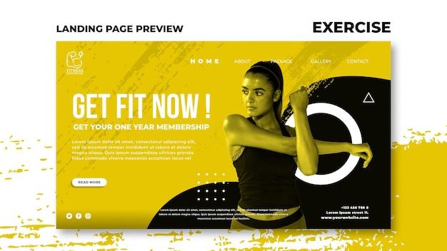 Landingpage für fitnessübungen