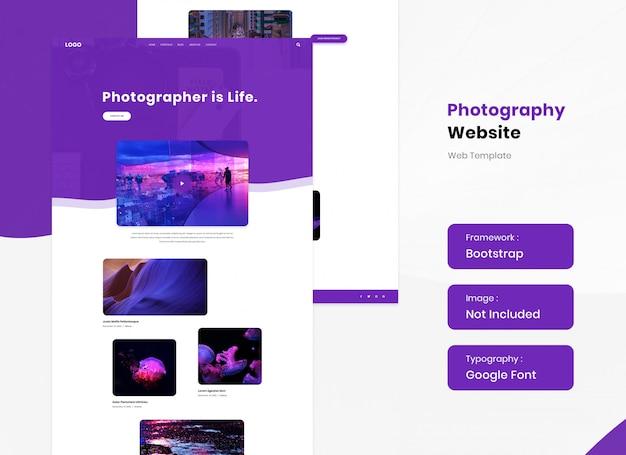 Landingpage für fotostudio