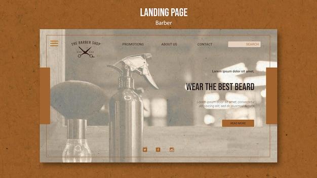 Landingpage für friseurladen