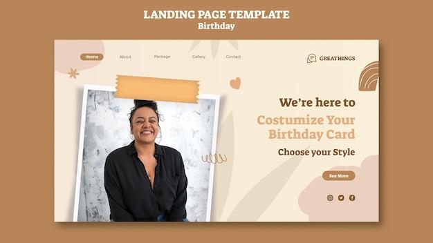 Landingpage für geburtstagsfeier