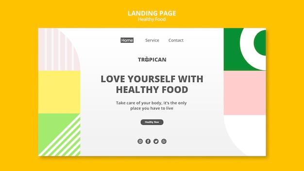 Landingpage für gesunde lebensmittel Kostenlosen PSD