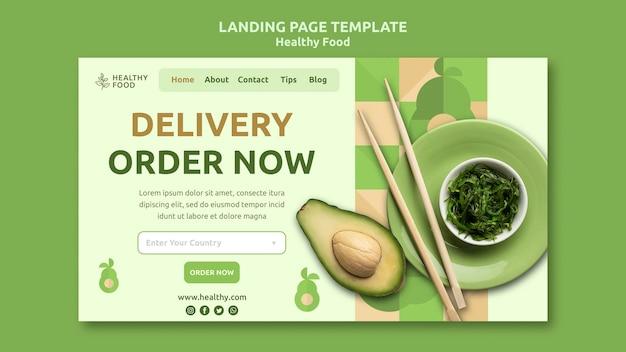 Landingpage für gesunde lebensmittel