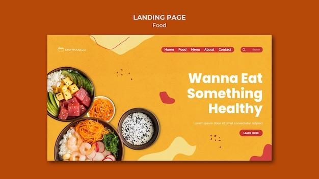 Landingpage für gesundes essen