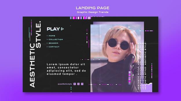 Landingpage für grafikdesign-trends