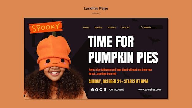 Landingpage für halloween-essen