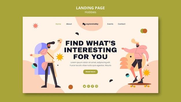 Landingpage für hobbys und leidenschaften