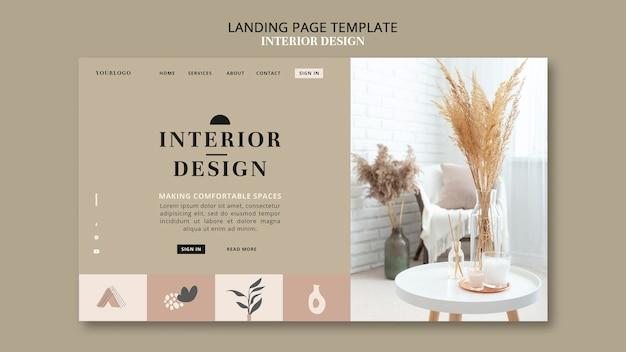 Landingpage für innenarchitektur