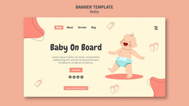 Landingpage für internationalen babytag