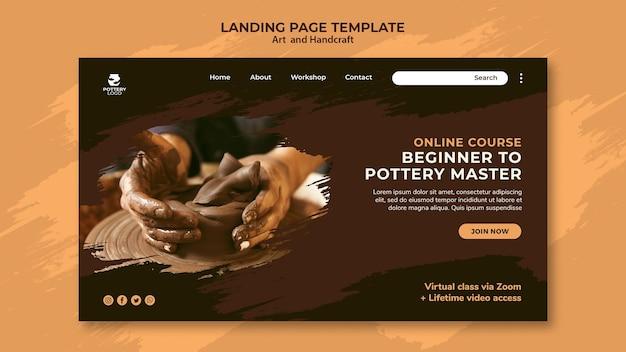 Landingpage für kunst und handwerk