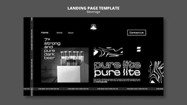 Landingpage für leckere getränke