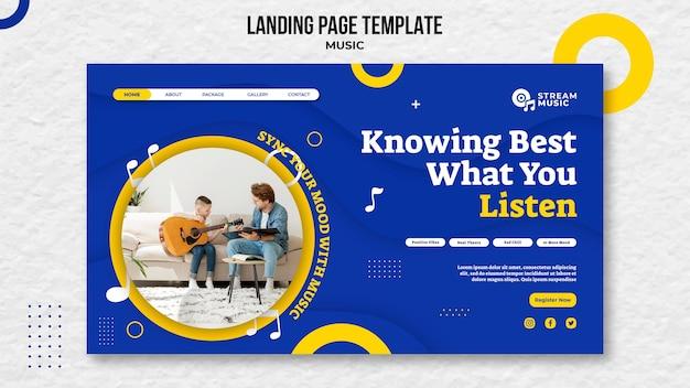 Landingpage für live-musik-streaming