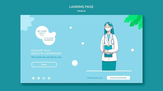 Landingpage für medizinisches gesundheitswesen