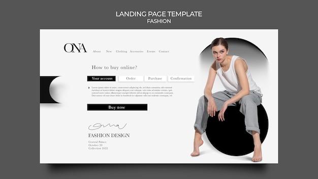 Landingpage für modedesign