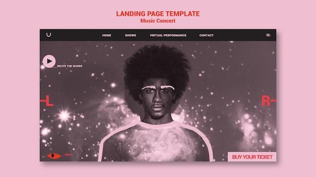 Landingpage für musikkonzerte