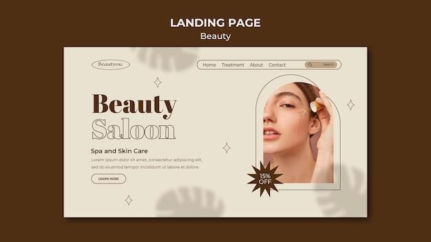 Landingpage für natürliche schönheit