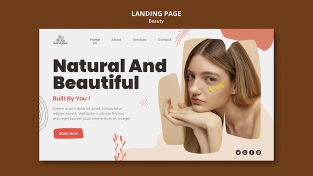 Landingpage für natur und schönheit