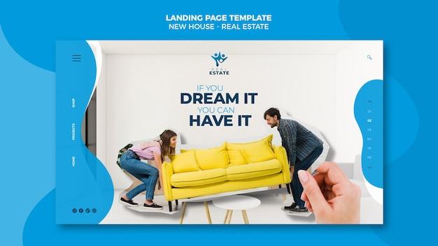 Landingpage für neue immobilien