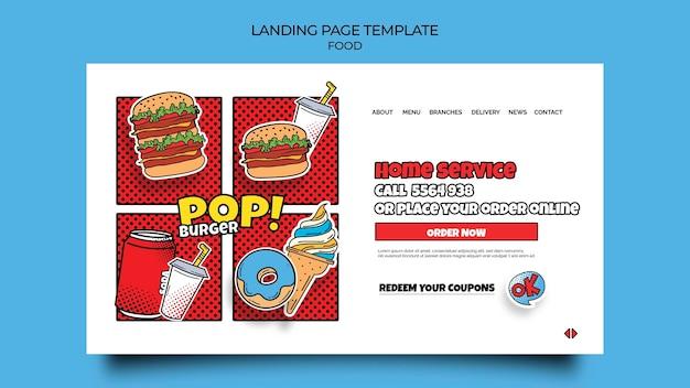 Landingpage für pop-art-food