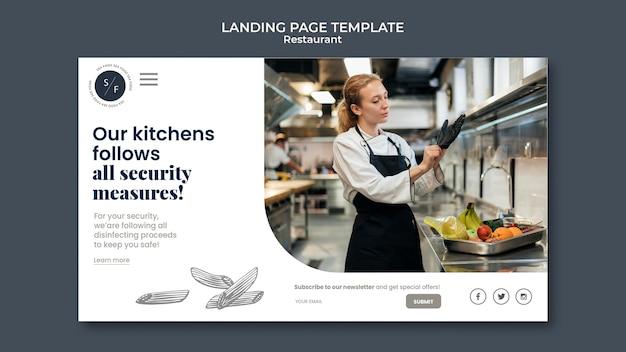 Landingpage für restaurantgeschäfte